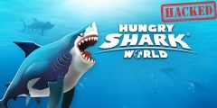 تحميل لعبة hungry shark world مهكرة جاهزة للايفون